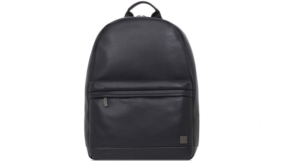 "Knomo Barbican Albion 15"" Leather Laptop Backpack - Black"