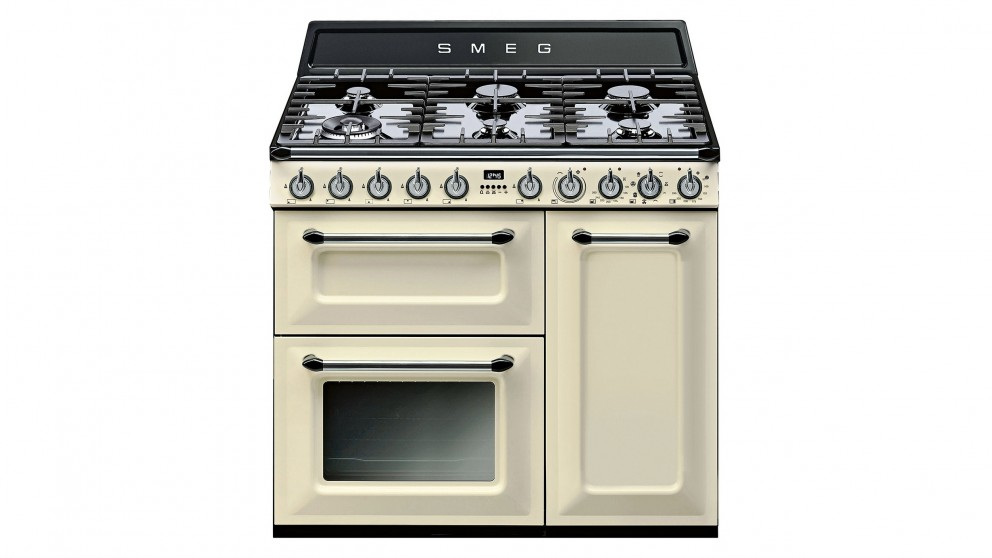 buy smeg 900mm victoria freestanding cooker cream. Black Bedroom Furniture Sets. Home Design Ideas