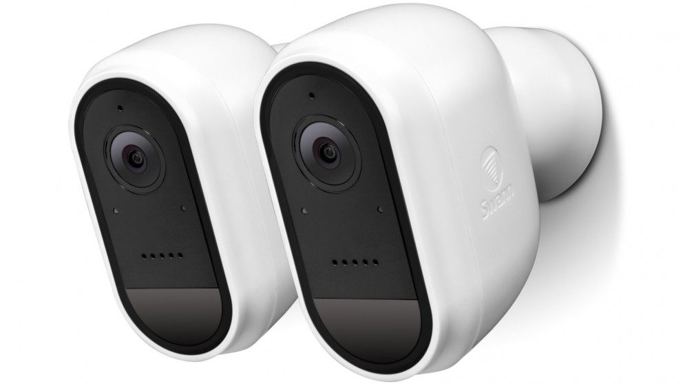 Swann 2-Pack 1080p Wire-Free Outdoor Security Camera - White