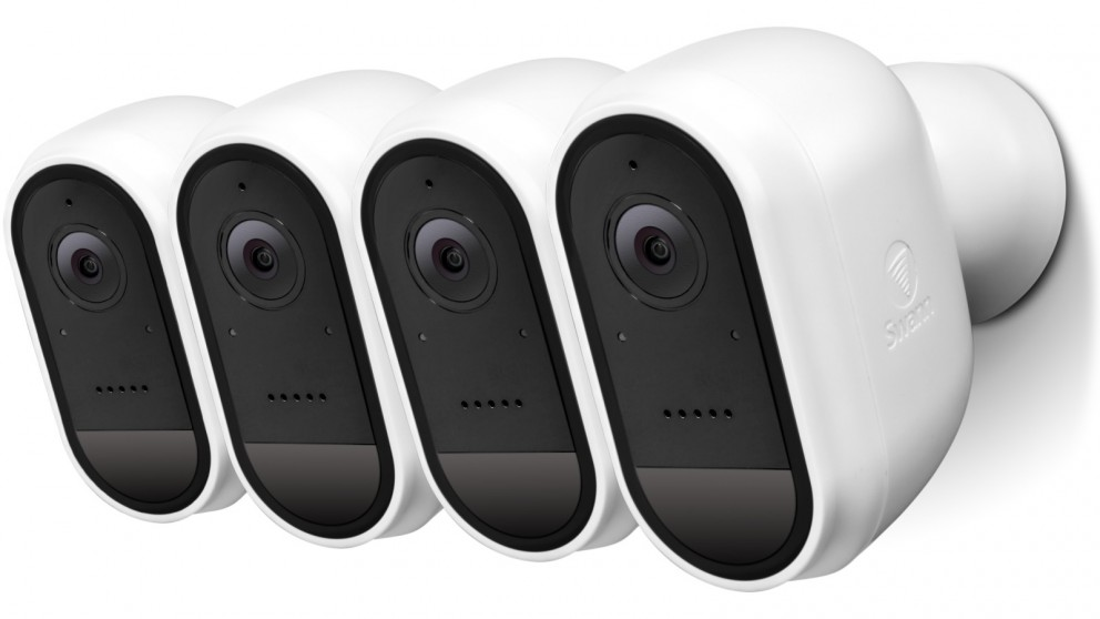 Swann 4-Pack 1080p Wire-Free Outdoor Security Camera - White
