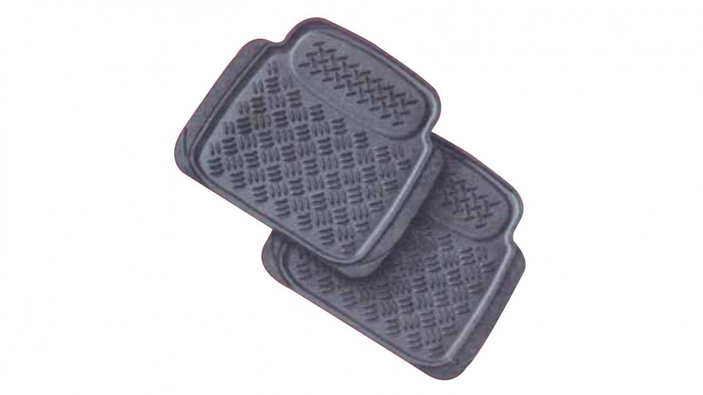 Carfit Sentry Trim to Fit Universal Front Rubber Floor Mat 2 Piece Set
