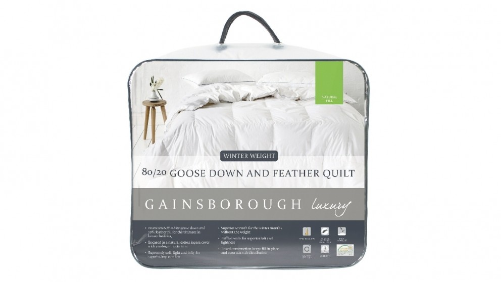 Gainsborough 80/20 Goose Down and Feather Quilt | Tuggl
