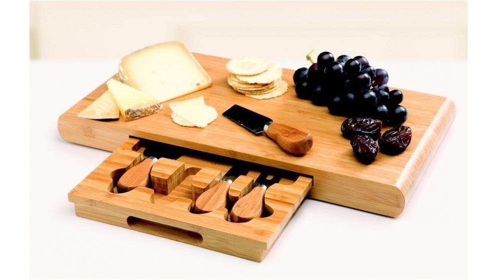 Stanley Rogers Bamboo 5pc Cheese Board Set
