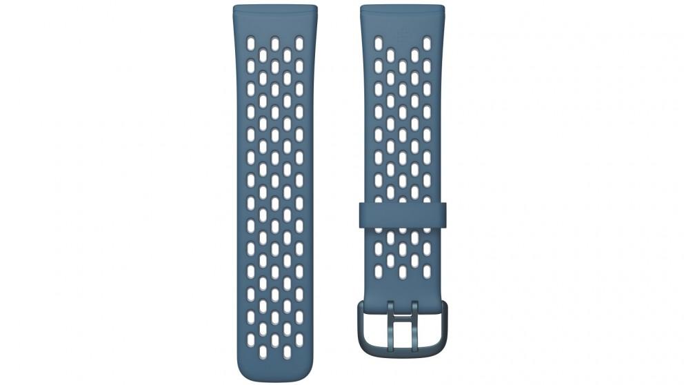 Fitbit Sense & Versa 3 Large Sport Band - Sapphire/Fog Grey