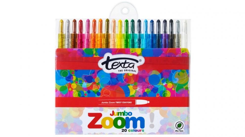 Texta 20-Piece Zoom Jumbo Twist Crayons