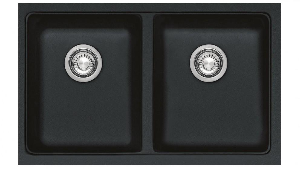 Franke Kubus Double Bowl Sink - Onyx