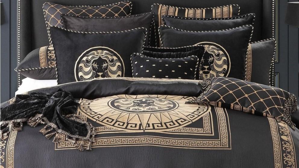 Massimo Black Lion European Pillowcase