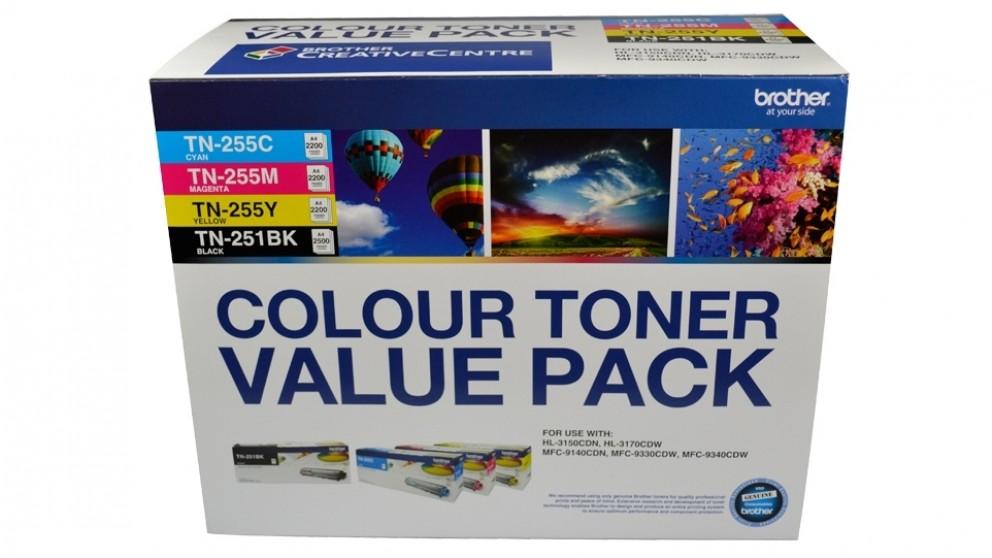 Brother TN-251BK255CLPK Colour Toner Value Pack