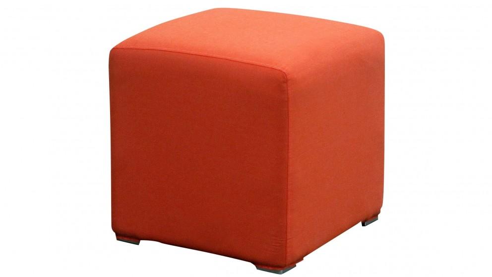 Splash Outdoor Ottoman - Orange Solid