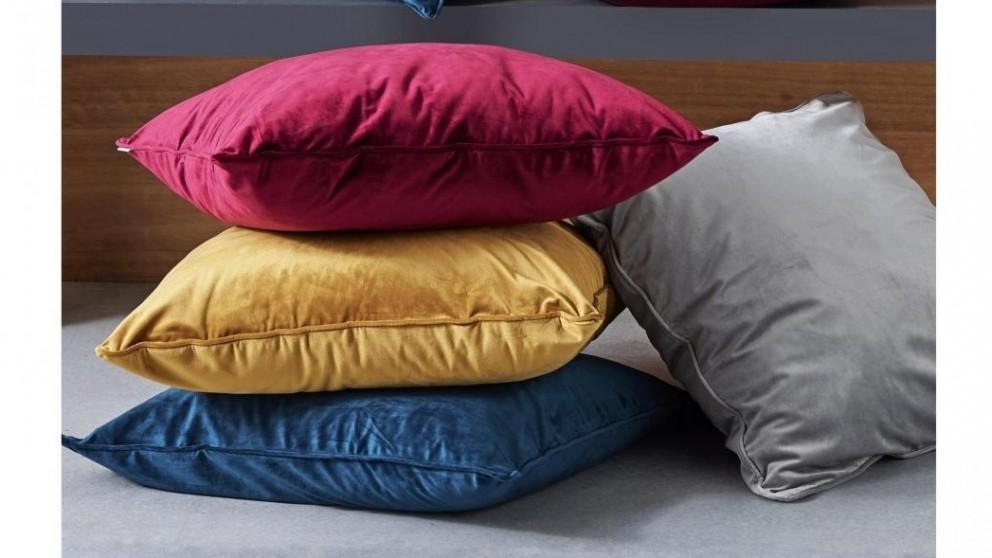 L'Avenue Velvet Mustard European Pillowcase