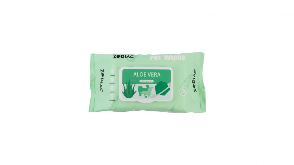 Zodiac Pet Wipes 100 Pack - Aloe Vera