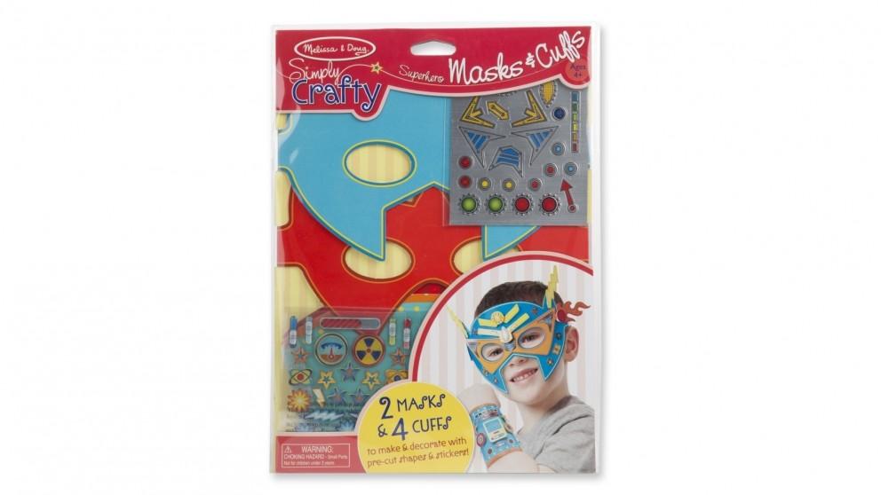 Melissa & Doug Simply Crafty Superhero Masks & Cuffs