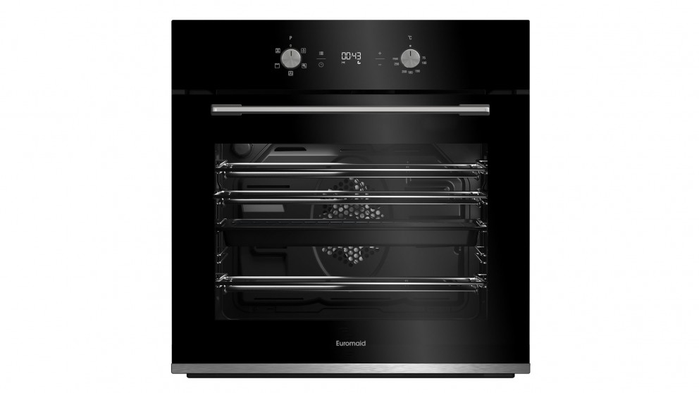Euromaid Eclipse 600mm Fan Forced Oven with Digital Timer - Black