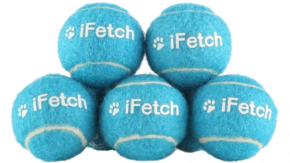 iFetch Pack of 5 Miniature Tennis Ball