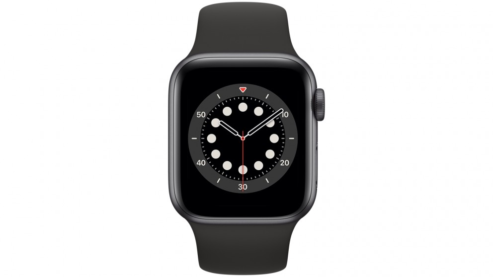 Apple Watch Series 6 40mm Space Grey Aluminium Case with Black Sports Band - GPS