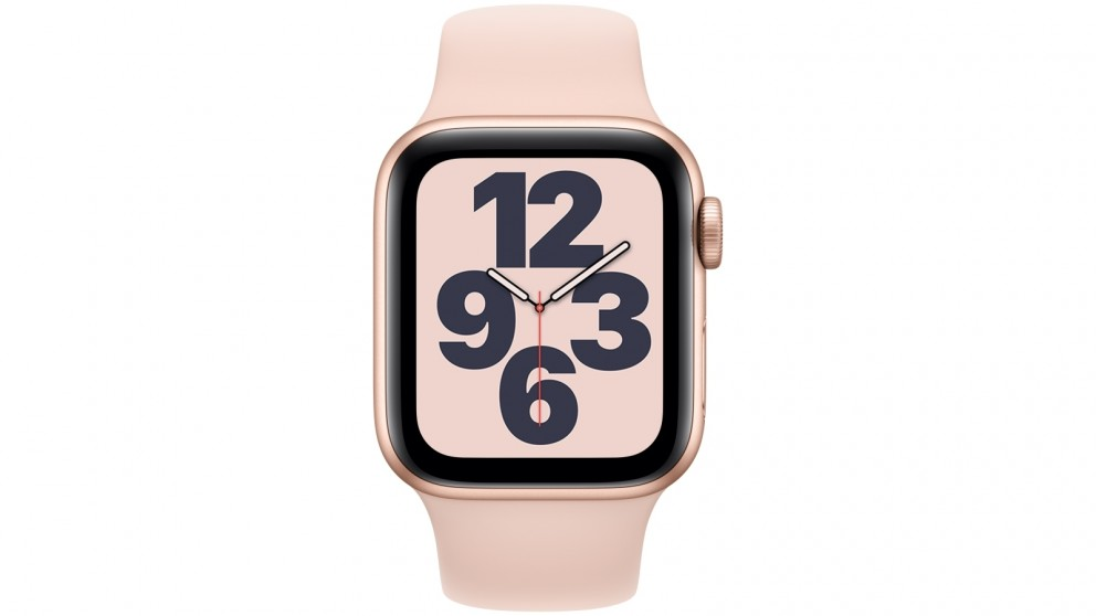 Apple Watch SE 40mm Gold Aluminium Case with Pink Sports Band - GPS