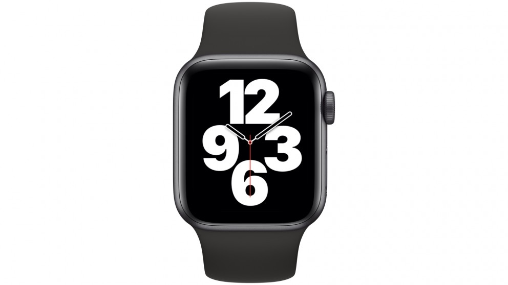 Apple Watch SE 40mm Space Grey Aluminium Case with Black Sports Band - GPS