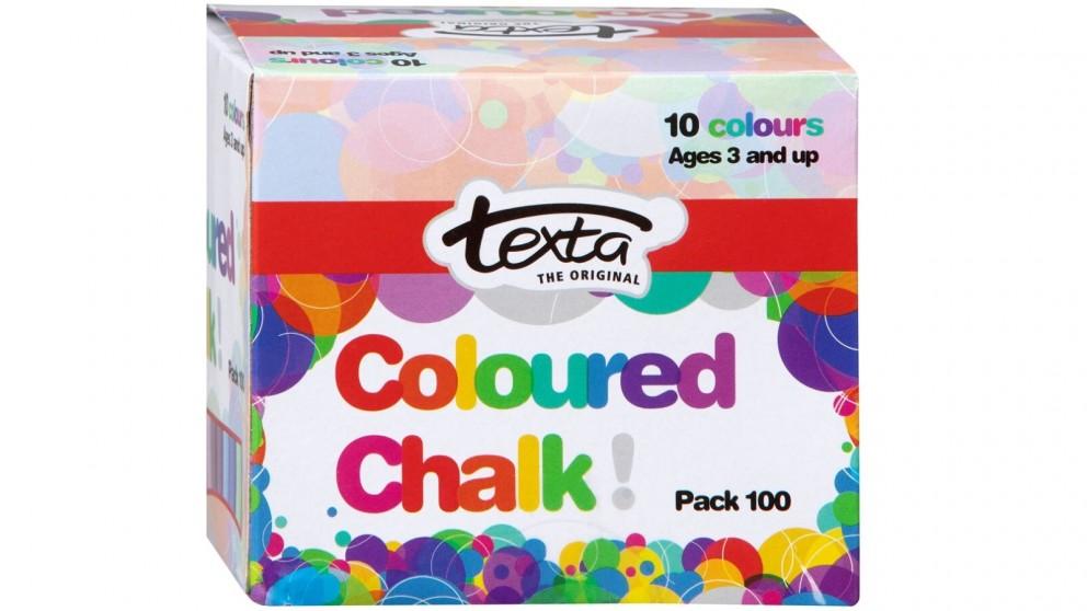 Texta 100-Piece Coloured Chalk