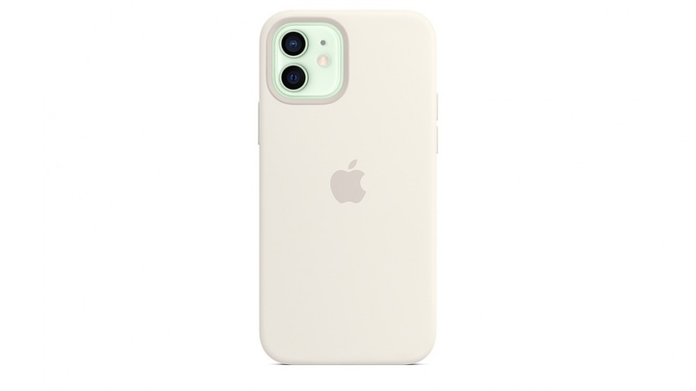 Buy Apple iPhone 12\/12 Pro Silicone Case with Magsafe - White  Harvey Norman AU