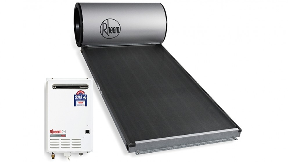 Rheem Hiline 160L Solar Hot Water System with LPG Gas Booster