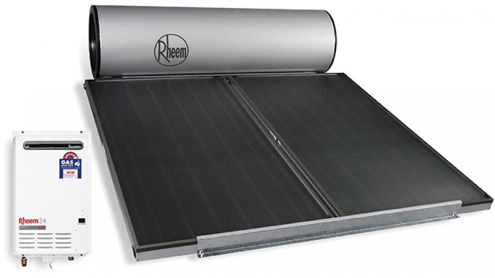 Rheem Hiline 300L Solar Hot Water System with Natural Gas Booster