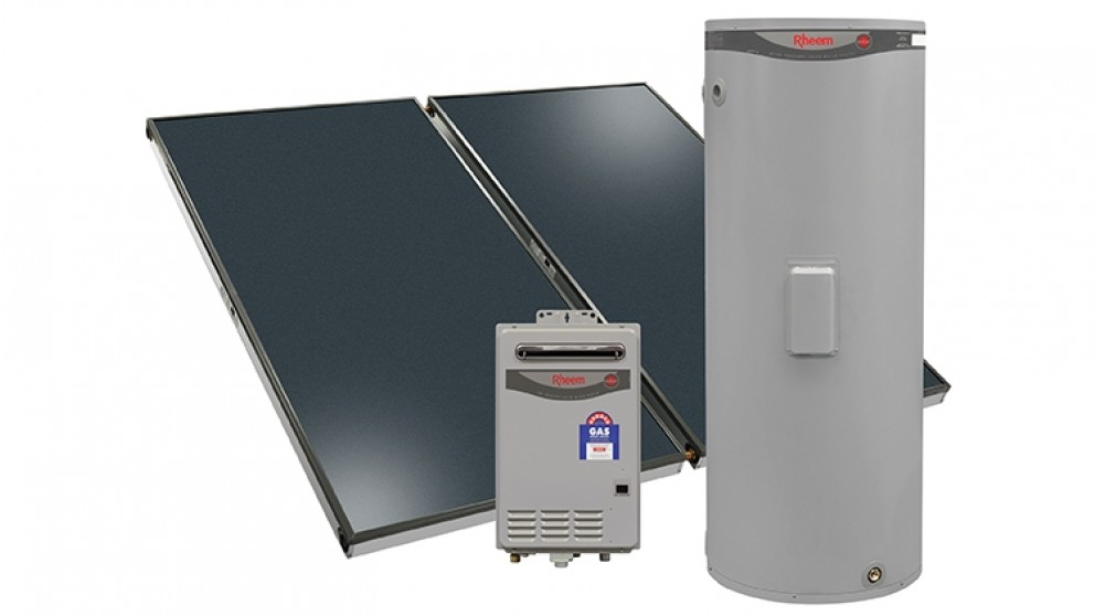 Rheem Loline 325L Solar Hot Water System with Natural Gas Booster