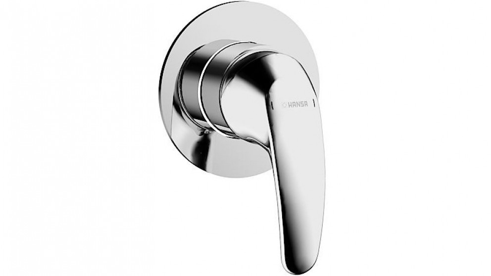 Hansa Pico 90mm Shower/Bath Mixer with In Wall Body