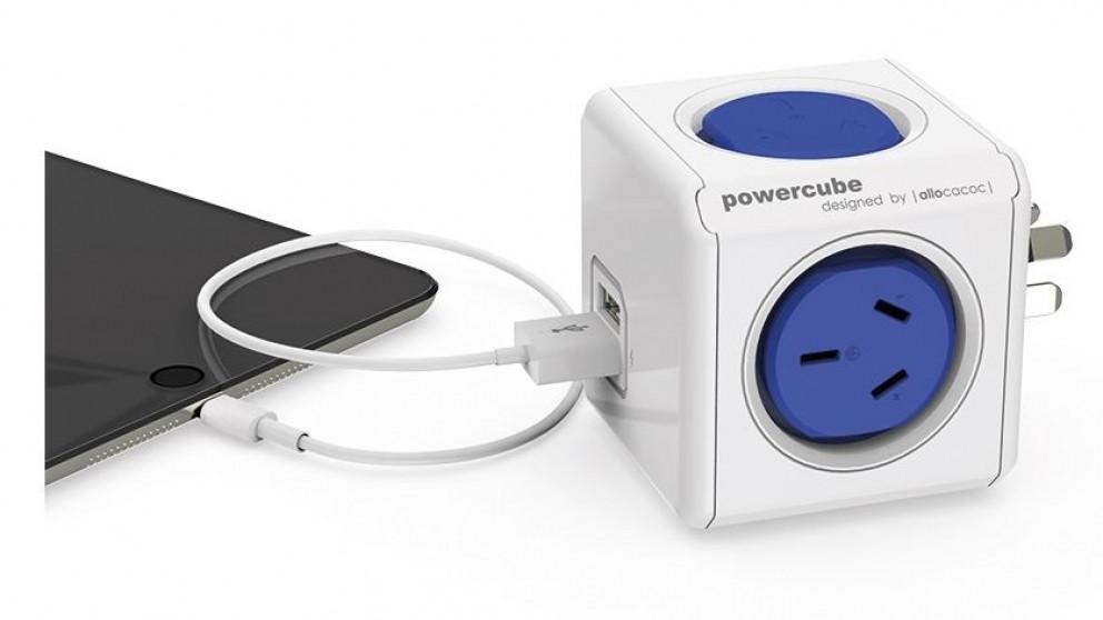 Allocacoc Powercube Original USB - Blue