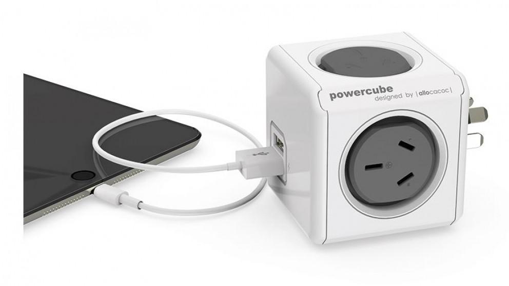 Allocacoc Powercube Original USB - Grey