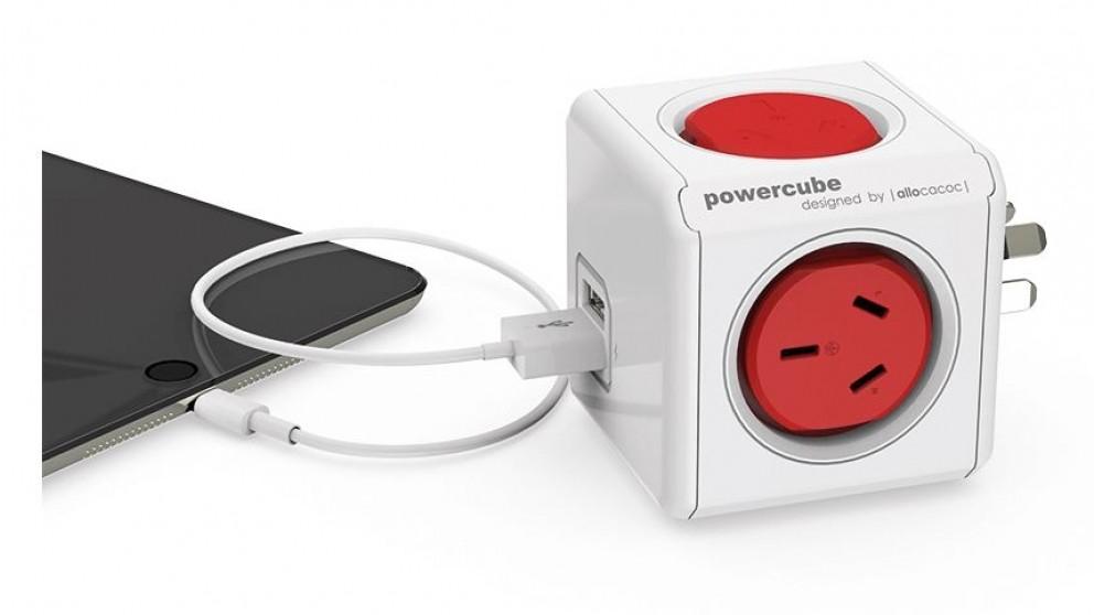 Allocacoc Powercube Original USB - Red