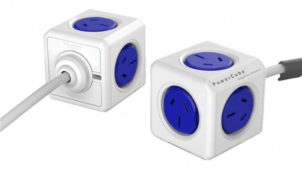 Allocacoc Powercube Extended with 1.5m Cable - Blue