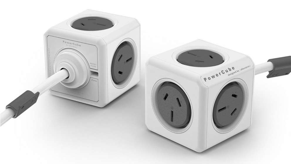 Allocacoc Powercube Extended with 1.5m Cable - Grey
