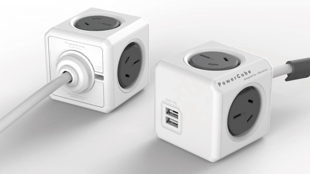 Allocacoc Powercube Extended USB with 1.5M Cable - Grey