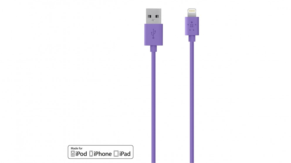 Belkin Mixit Up Lightning to USB 1.2m ChargeSync Cable - Purple