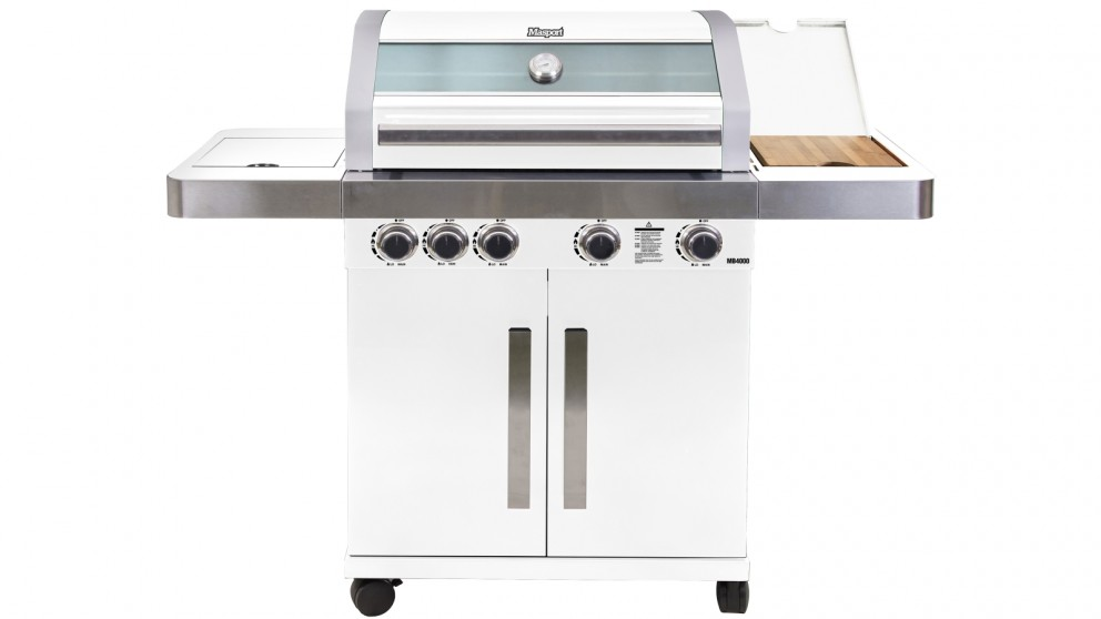 Masport MB4400 4-Burner BBQ - White