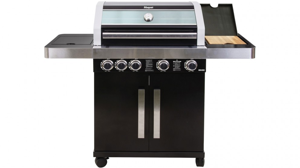 Masport MB4400 V2 4-Burner BBQ - Black