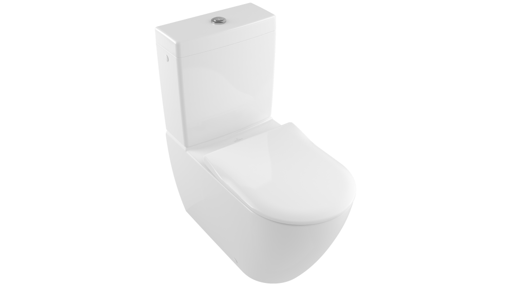 Villeroy & Boch Subway 2.0 DirectFlush Back to Wall Toilet with Slim Seat - S Trap
