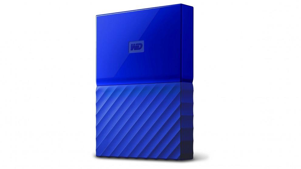 WD My Passport 2017 4TB Portable Hard Drive - Blue