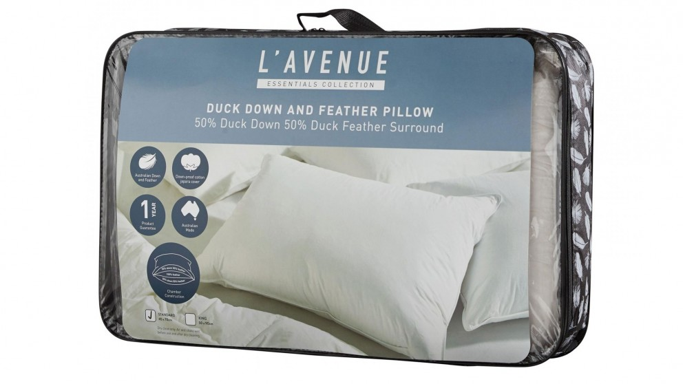 L'Avenue 50/50 Duck Down & Feather Standard Pillow