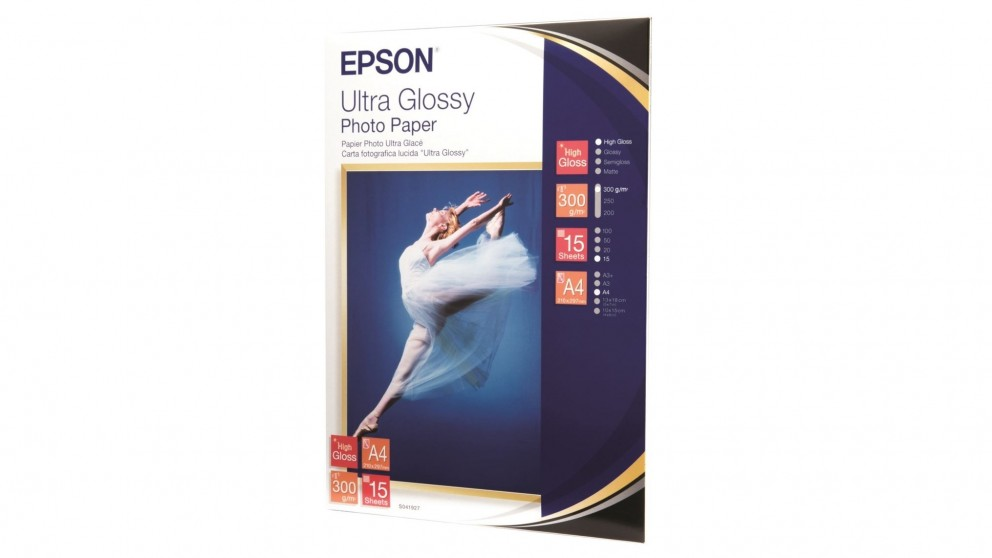 Epson Ultra Glossy A4 Photo Paper -15 Sheets