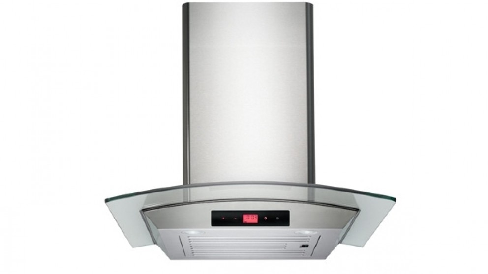 Euromaid 60cm Curved Glass Canopy Rangehood - Stainless Steel
