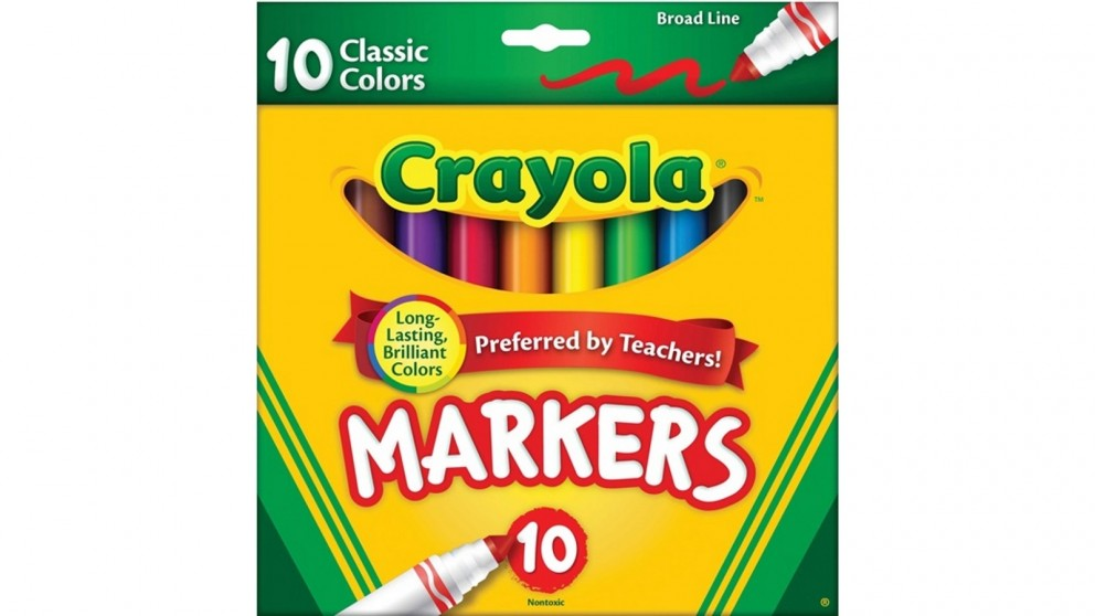 Crayola 10-Pack Classic Broad Line Markers