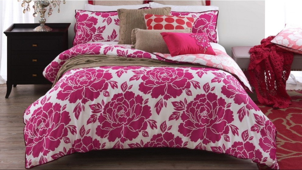 Peony Pink Queen Quilt Cover
