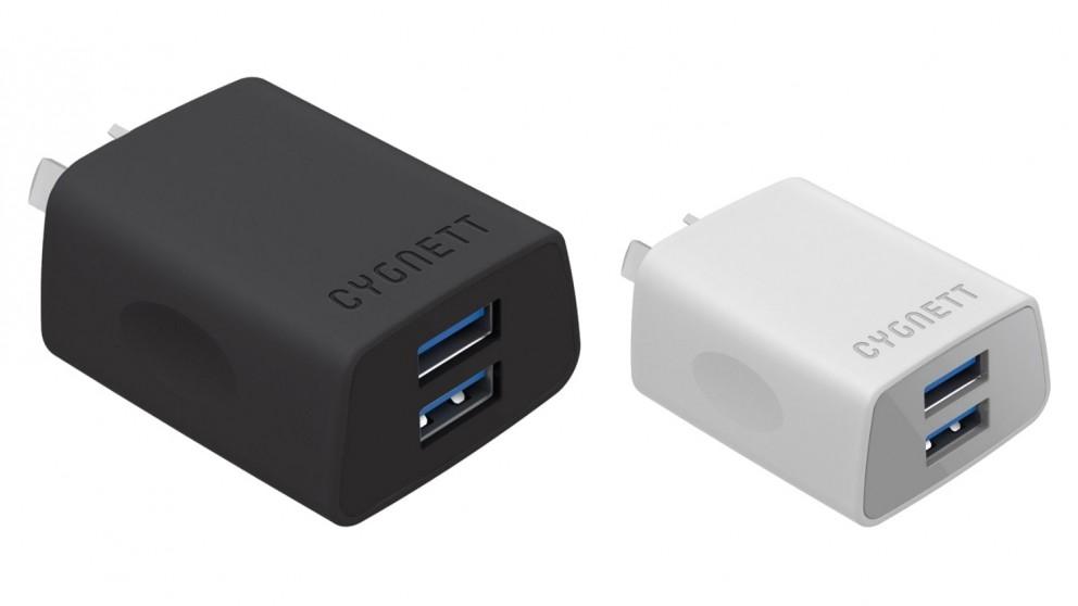 Cygnett +2.4 AMP Dual USB Wall Charger