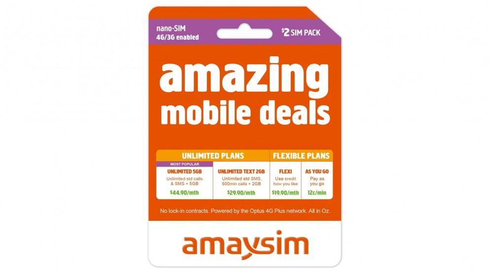 Buy Amaysim Pre Paid Nano Sim Starter Kit 2 Harvey Norman Au