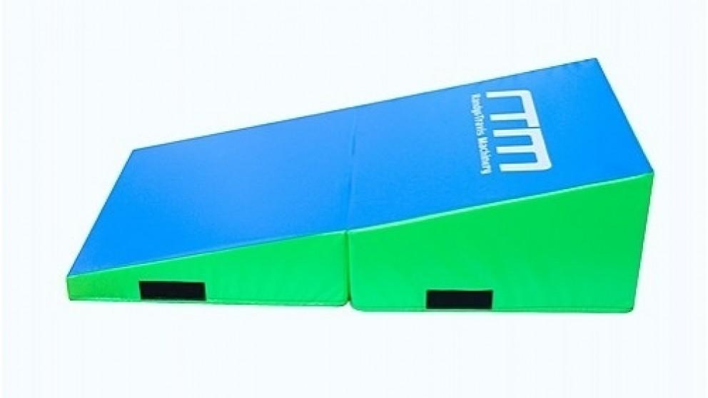 Serrano Foldable Soft Incline Gymnastics Mat Wedge Yoga Gym Balance Training - 120cm x 60cm x 35 cm