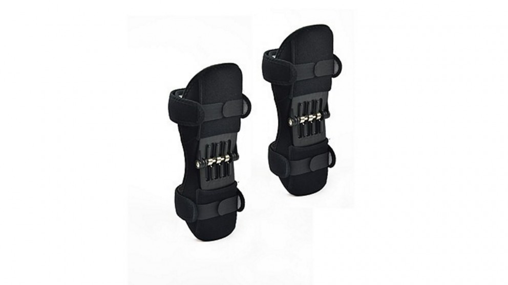 Serrano Power Knee Stabiliser Pad Lift Joint Support Powerful Rebound Spring Force - Black