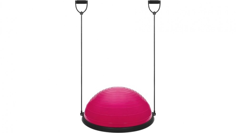 Serrano Yoga Balance Trainer Exercise Ball for Arm, Leg, Core Workout with Pump, 2 Resistance Bands