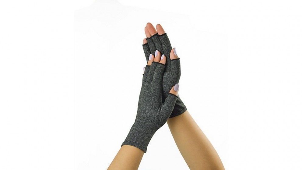 Serrano Arthritis Gloves Compression Joint Finger Hand Wrist Support Brace Large - Grey