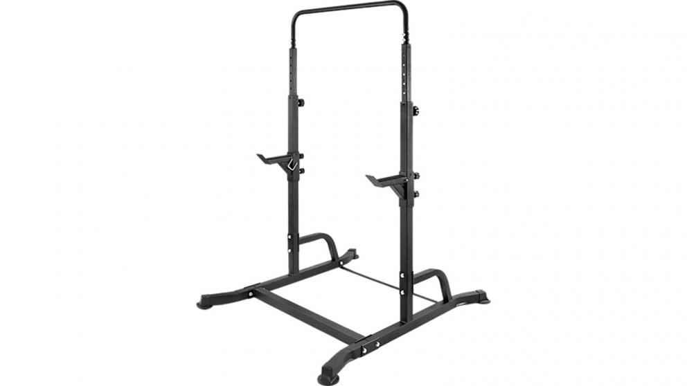 Serrano Bench Press Gym Rack and Chin Up Bar - Black